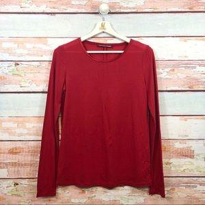 COMPTOIR des Cotonnier Silk Contrast T Shirt